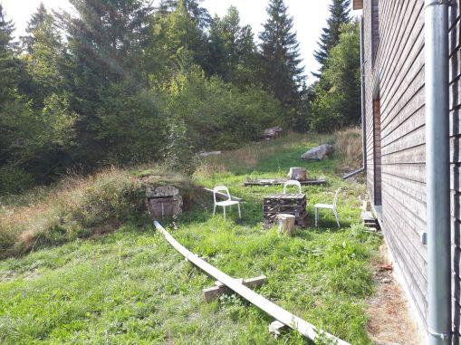 Le puits est raccordé au toit